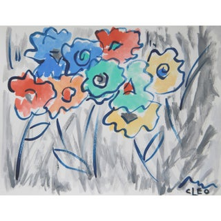 Abstract Floral Painting by Cleo