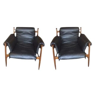 Finn Juhl Style Lounge Chairs - A Pair