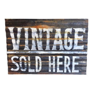 Vintage Sold Here Sign