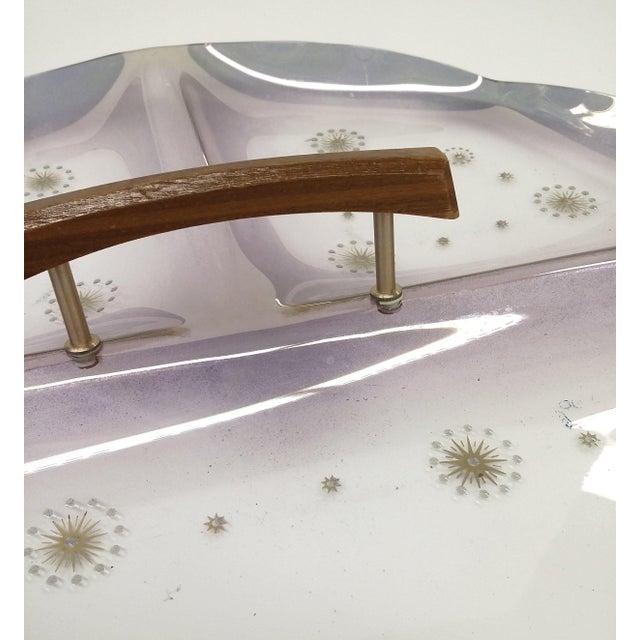 Mid-Century Atomic Three-Section Purple Tray - Image 6 of 9