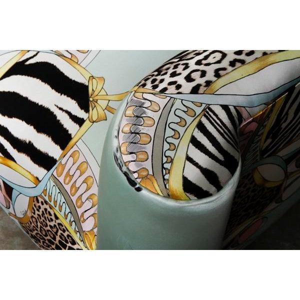 Image of Roberto Cavalli Custom Upholstered Silk Loveseat