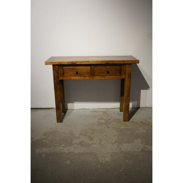 Solid Wood Hall Console Table - Image 2 of 6
