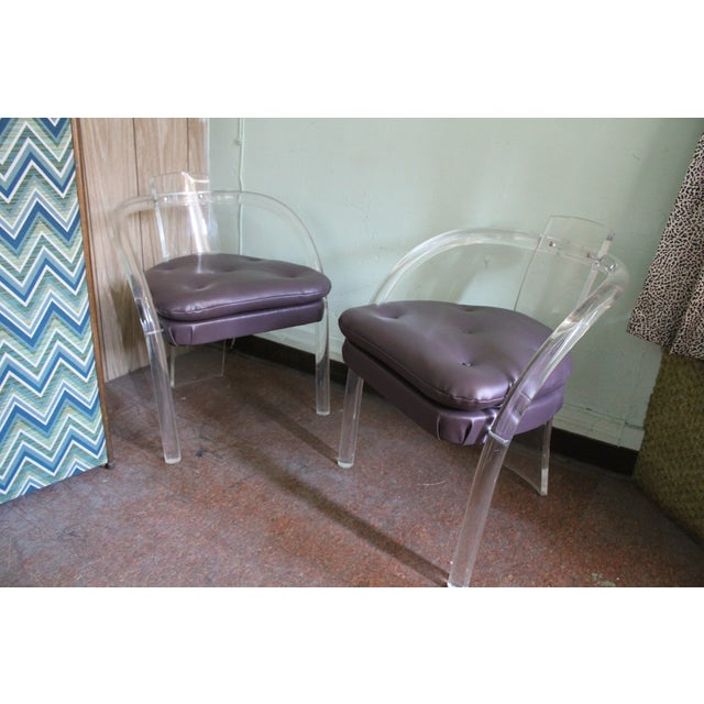 Image of Pace Collection Lucite Chairs - A Pair
