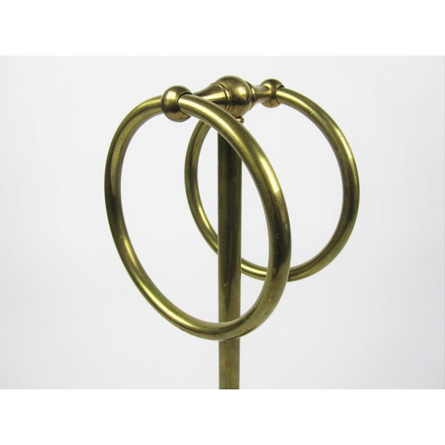 Vintage Brass Hand-Towel Holder - Image 3 of 3