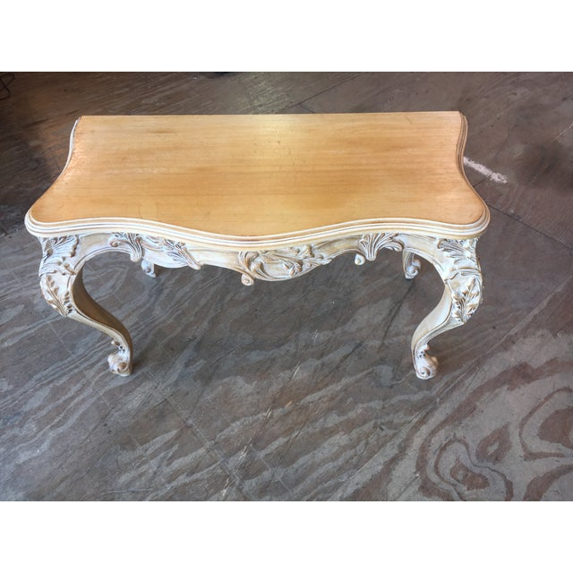 Italian Carved Wood Console Table - Image 3 of 11