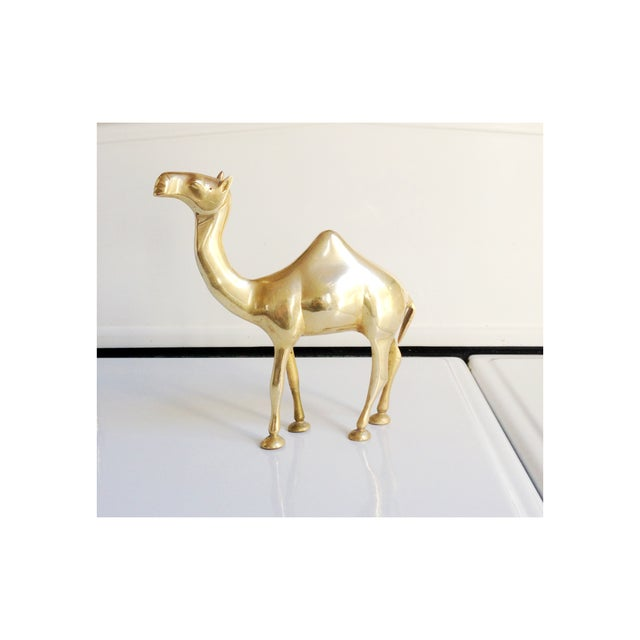 Vintage Large Brass Camel Statue - Image 2 of 5