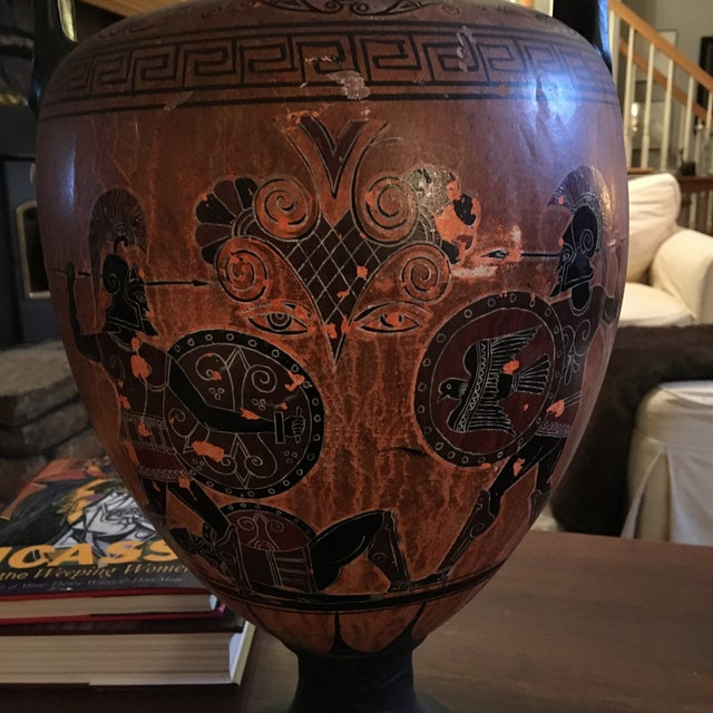 Greek Double Handle Vase - Image 4 of 10