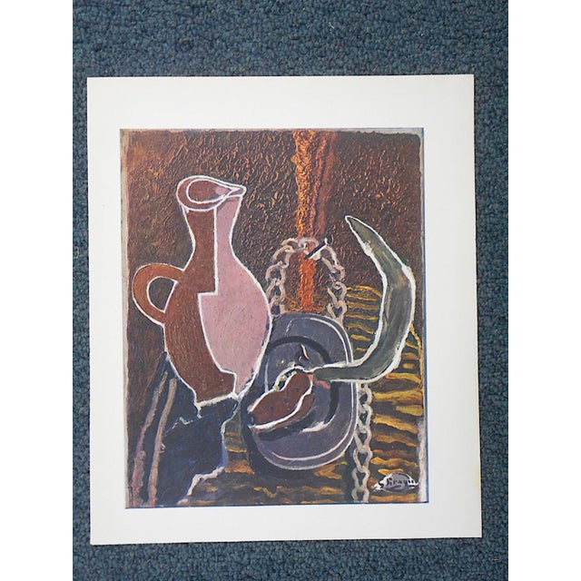 Vintage Mid-Century Braque Lithograph - Image 2 of 4