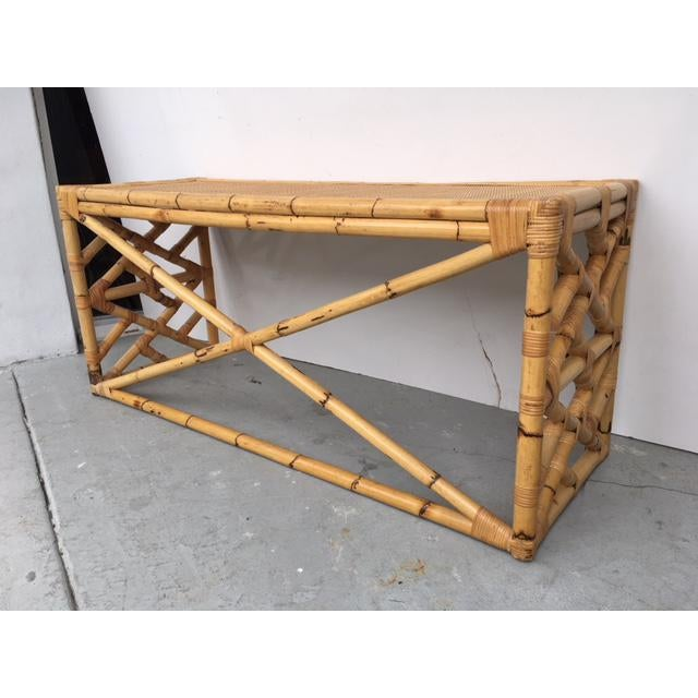 Tropical Chic Bamboo & Rattan Console - Image 6 of 8