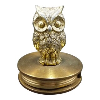 Vintage Gold Tone Owl Magnifying Glass