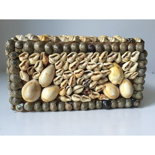 Vintage Shell-Encrusted Decorated Box - Image 5 of 7