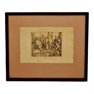 """1877 Amand Durand """"La Sainte Famille"""" Heliogravure Print"""