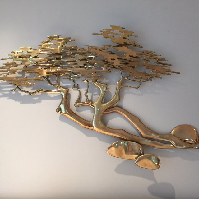 Mid-Century Bijan Brass Wall Sculpture - Image 6 of 6