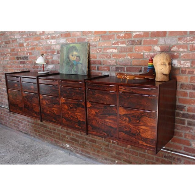 Monumental Scandinavian Modern Rosewood Floating Credenza - Image 11 of 11