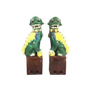 Vtg Temple Foo Dogs - A Pair