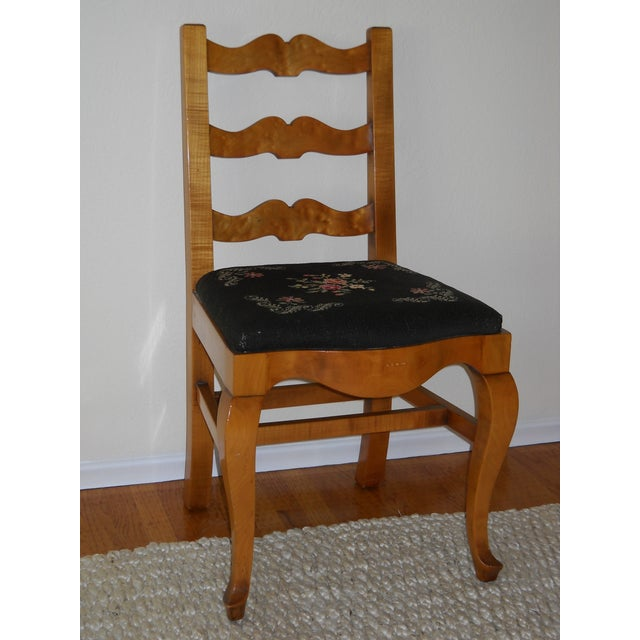 French Provincial Solid Oregon Maple Dining Set - Image 9 of 11