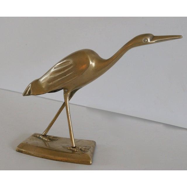 Brass Shore Bird Sculpture - Image 8 of 8