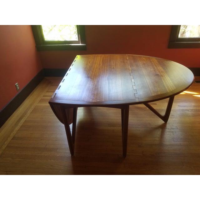 Danish modern teak folding dining table chairish - Modern folding dining table ...