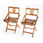 Image of 1950's Children's Campaign Chairs - Two