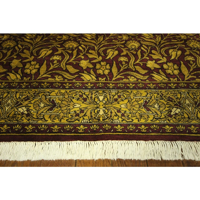 "Suzani Collection Oushak Floral Rug - 6'2"" x 8'10"" - Image 8 of 10"