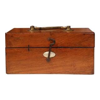 19th Century English Walnut & Mother of Pearl Decorative Box