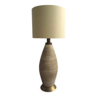 Tall Mid-Century Modern Pottery Table Lamp