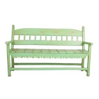 Argentinian Rustic Verde Bench