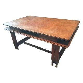 Very Stylish Antique Art Deco Oak Wood Desk