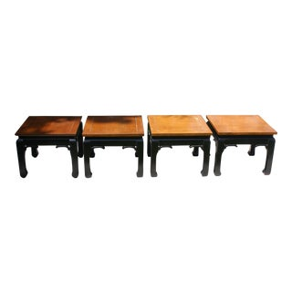 Ming Style Stools / Low Tables - Set of 4