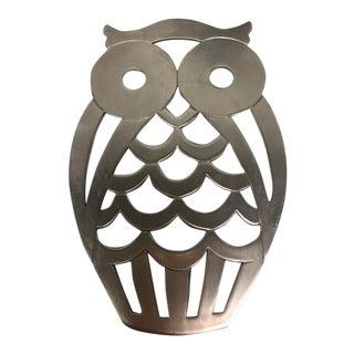 F.B. Rogers Pewter Owl Trivet