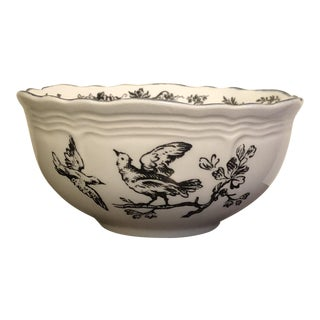 New England Black Toile Game Birds by Tabletop Unlimited Sugar Bowl