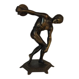 "1930's Bronze ""Man Throwing Discus"""
