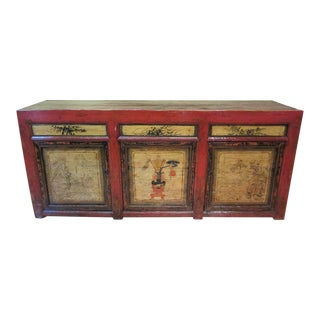 Distressed Antique Chinese Cabinet