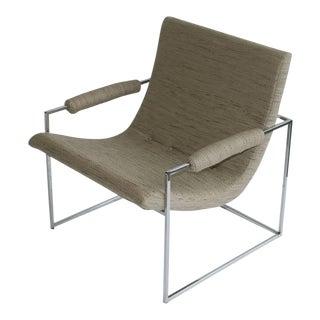 Pair of Petite Milo Baughman Chrome Lounge Chairs