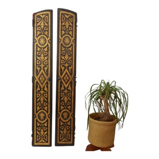 Antique Leather Doors - A Pair