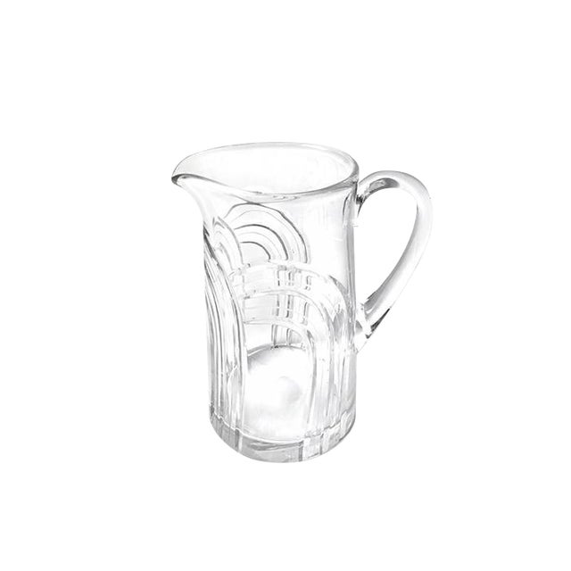 Image of Vintage Mid Century Glass Tapered Pitcher