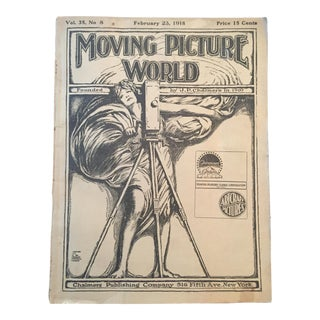 1918 Moving Picture World, Vintage Movie Magazine