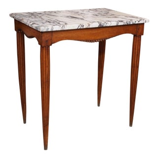 Pair French Wood Consoles with marble top