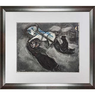 """In the Snow"" Marc Chagall Lithograph"