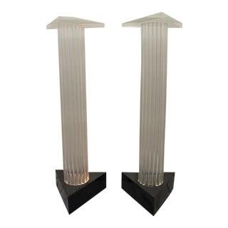 Mid-Century Lucite Pedestals - A Pair
