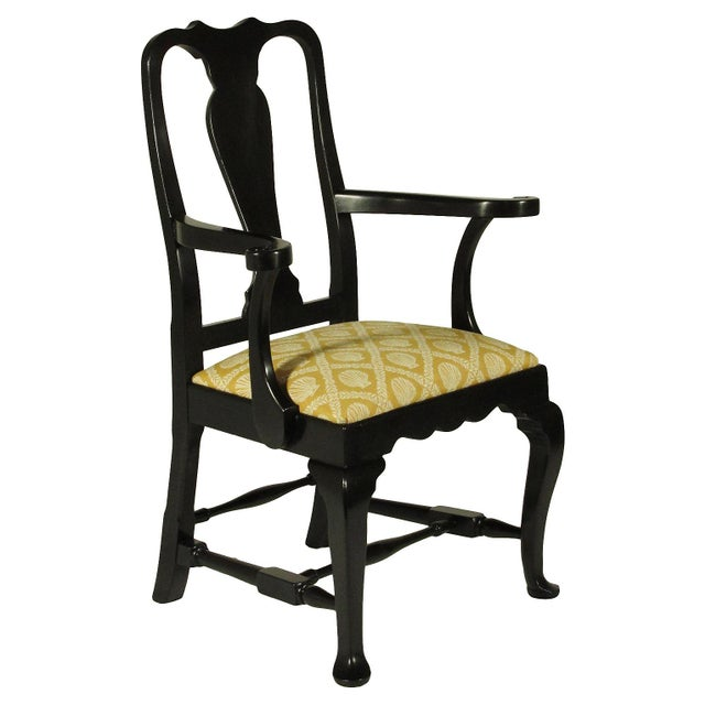 Black Lacquer Dining Chairs - Set of 8 - Image 3 of 5