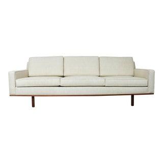 Mid-Century Modern Cream Sofa