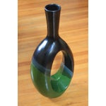 Image of Green and Black Abstract Vase