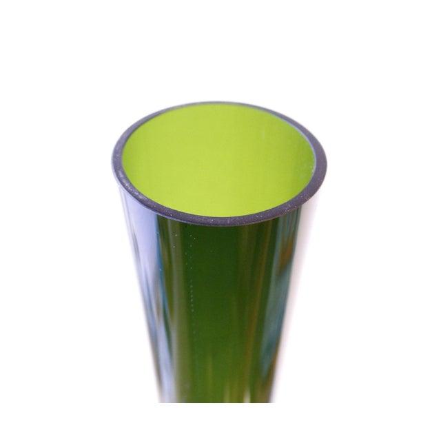 Large Gullaskruf Floor Vase Green Arthur Percy Sweden Art Glass - Image 4 of 5