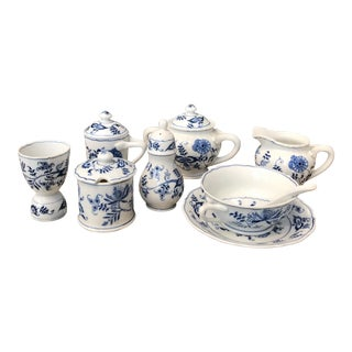 Mixed Blue Danube Porcelain Serving Ware - 9 Piece Set