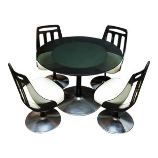 Vintage Soveriegn Lucite & Chrome Dining Set - Set of 5