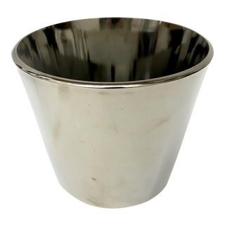 Mid-Century Silver Glass Ice Bucket