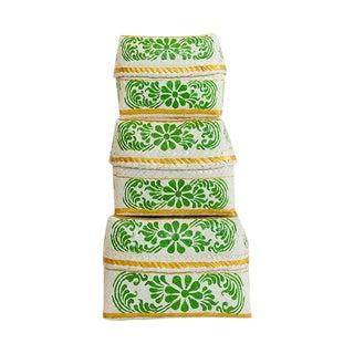 Green Bloom Baskets - Set of 3