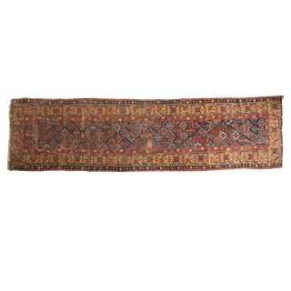 "Antique Kurdish Rug Runner - 3'6"" x 13'3"""