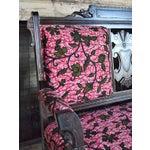 Image of African Print Victorian Eastlake Pink Settee